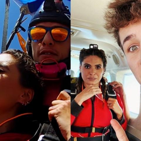 Galilea Montijo se desmaya al saltar en paracaídas