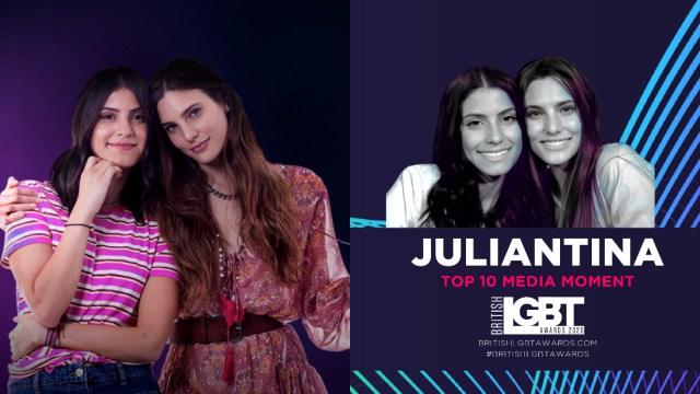 Juliantina son nominadas a los British LGBT Awards 2020