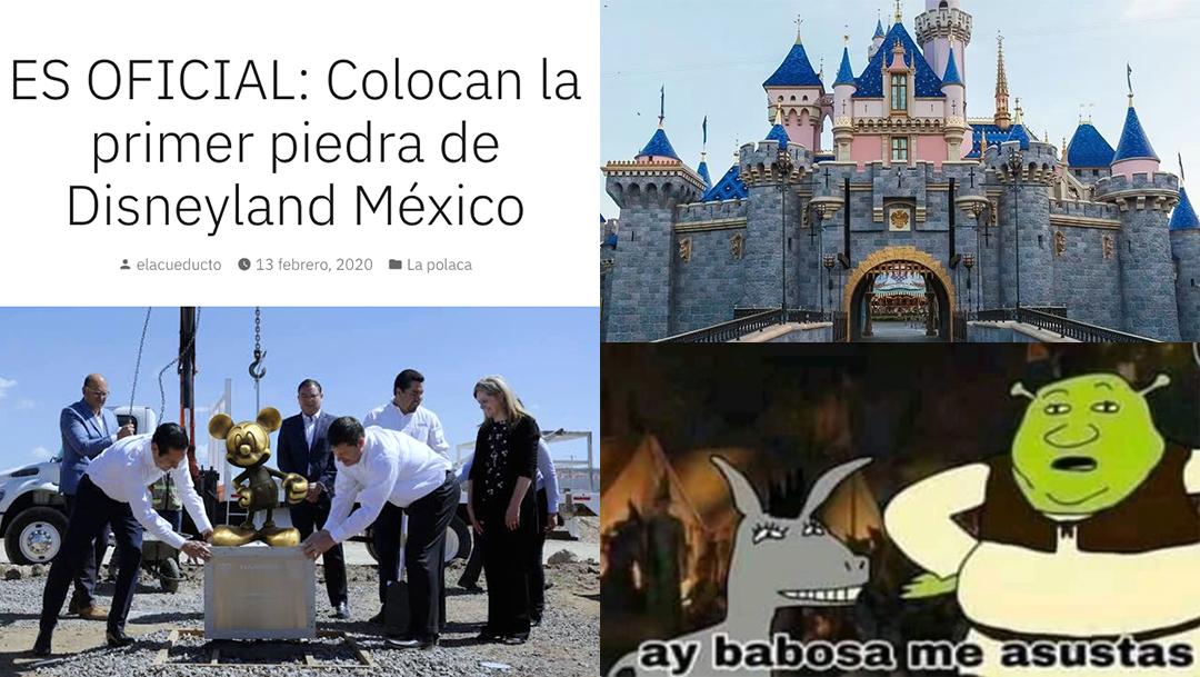 Memes del parque Disneyland en Querétaro que es falso