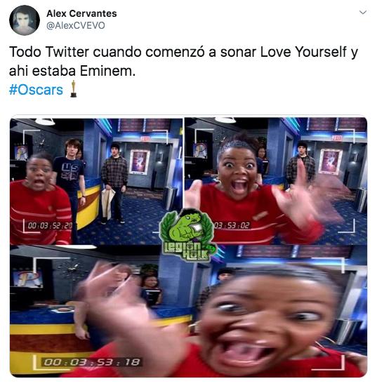 Memes de Eminem en los Oscars 2020