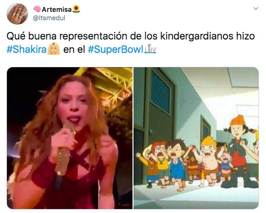 Memes de la lengua de Shakira en el show de medio tiempo del Super Bowl 2020