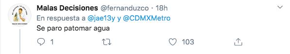 pato con tenis bruna en el metro de la cdmx