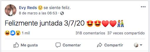 Eva Rojas confirma que ya vive con su novio