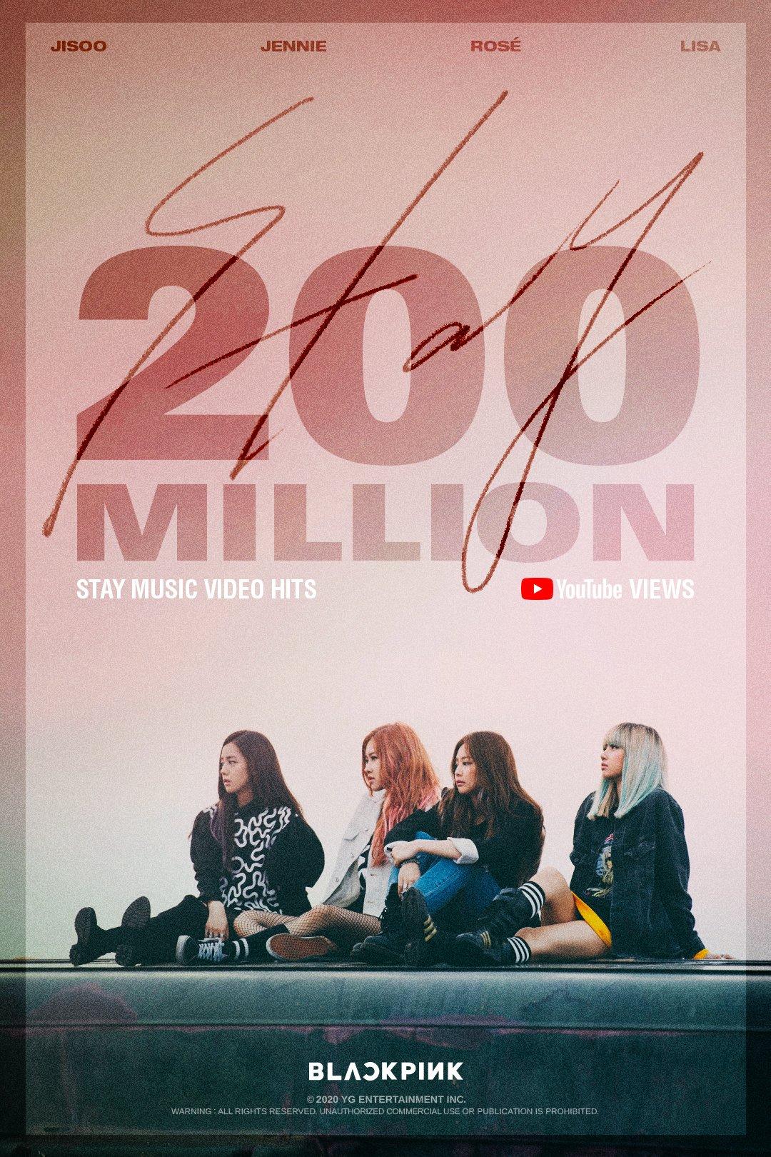 BLACKPINK_ Video musical de STAY supera los 200 millones de visitas