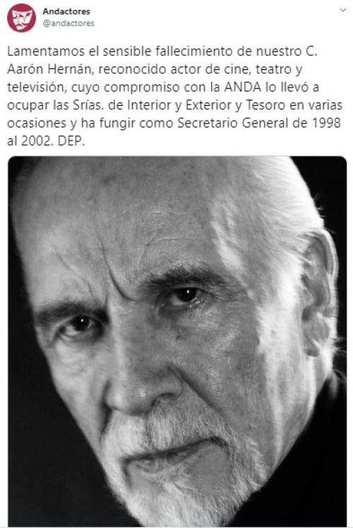 Muere el actor Aaron Hernán