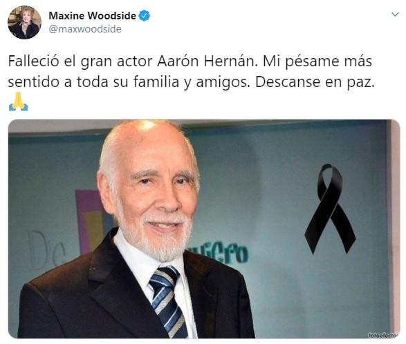 Muere el actor Aaron Hernán a los 98 años