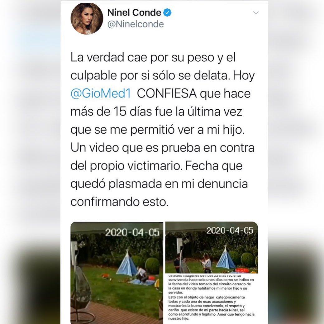 Ninel Conde arremete contra Giovanni Medina y desmiente su video