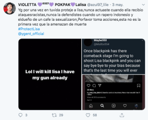 Lisa de BLACKPINK ha recibido múltiples amenazas de muerte