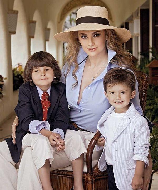 Aracely Arámbula muestra rostro de sus hijos con Luis Miguel