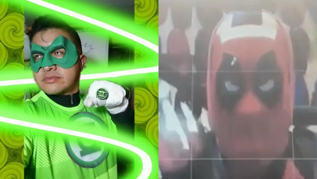 Maestro se disfraza de superhéroe para dar clase virtual