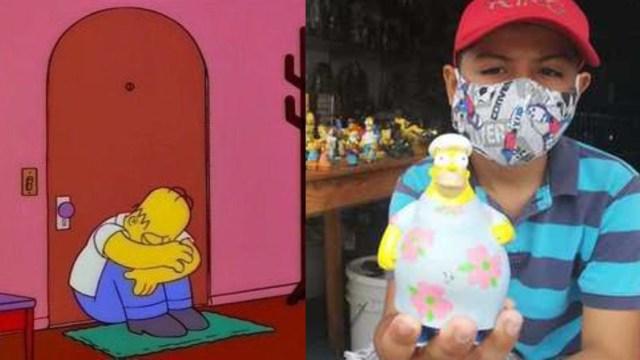 Niño vende colección de Los Simpson para ayudar a su familia