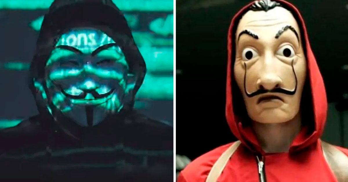 "Centennials culpan a Anonymous de copiarle a ""La Casa de Papel"""