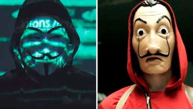 "Centennials culpan a Anonymous de copiarle a ""La Casa de Papel"""
