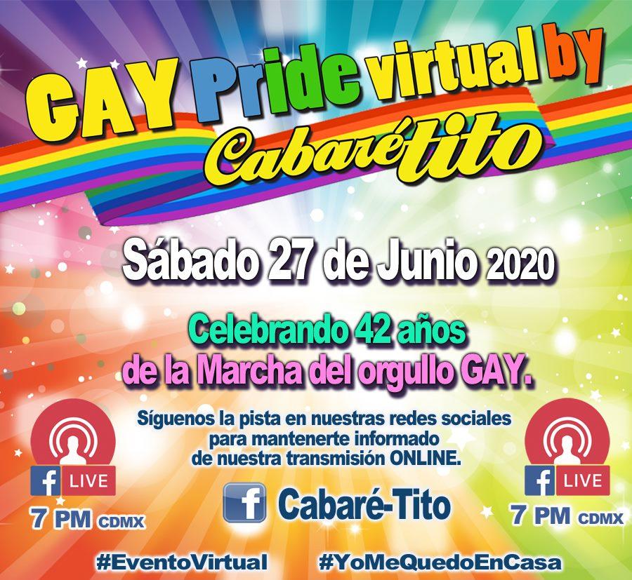 Fiestas digitales Orgullo LGBT+ México 2020