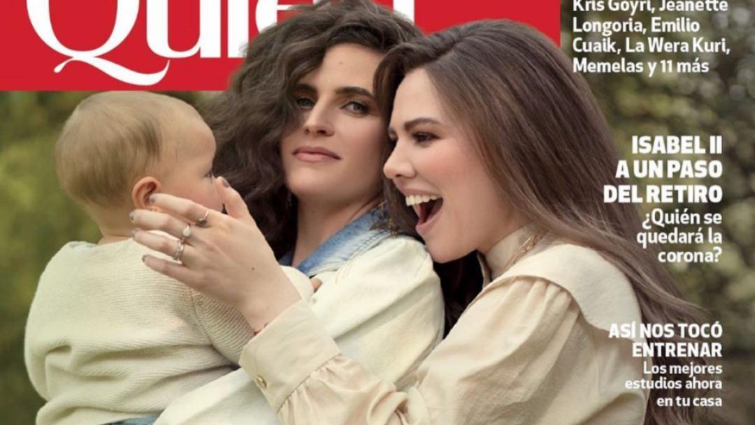 Joy Huerta, su esposa y su hija salen en portada de Quién