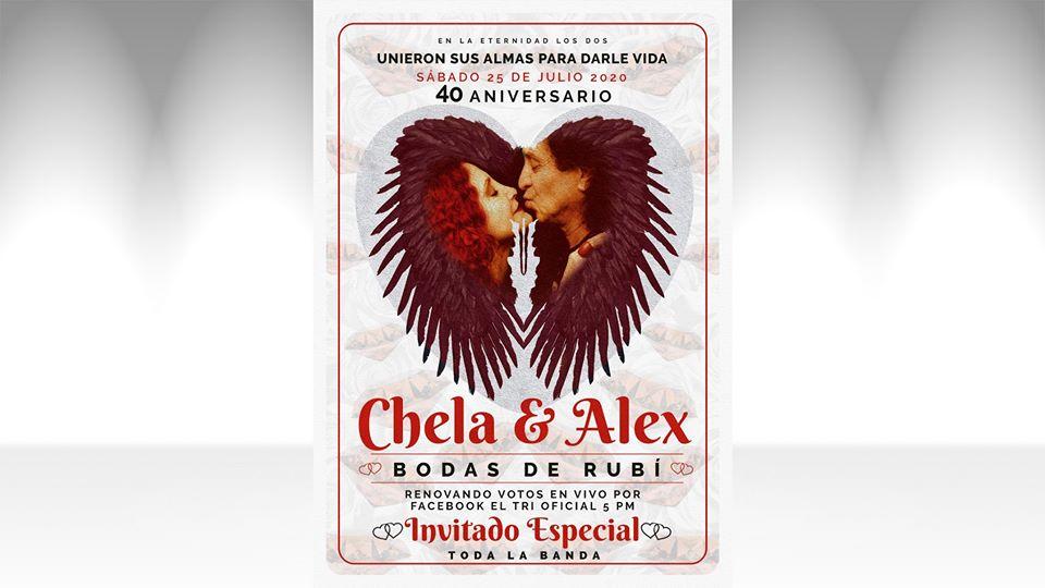 Alex y Celia Lora celebran 40 años de casados en un live de Facebook