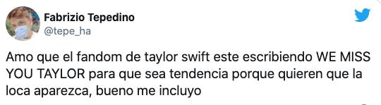 Taylor Swift está desaparecida preocupa todos sus fans
