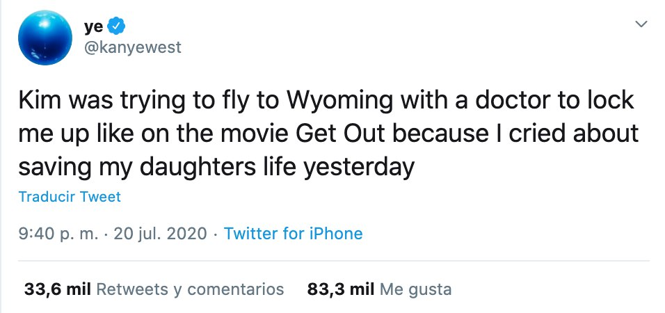 Kanye West pelea con Kim Kardashian la acusa tweets