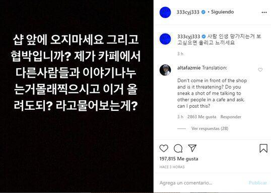 Youngjae preocupa fandom amenaza sasaeng