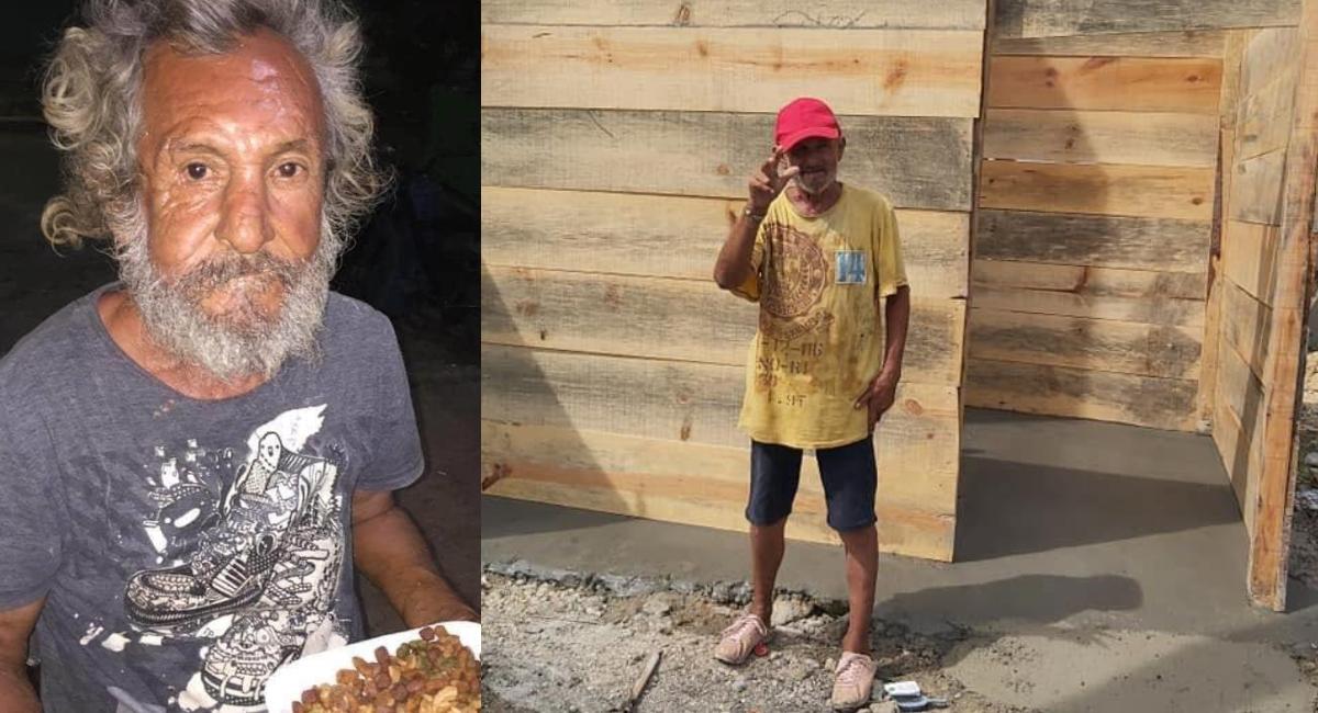 Construyen cuarto a abuelito que le dieron de comer croquetas de perro