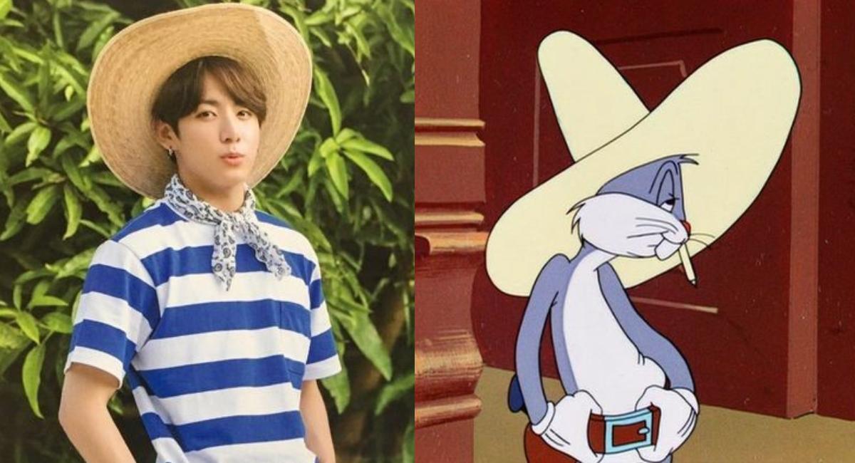 Jungkook de BTS se disfraza de Bugs Bunny para celebrar sus 80 años