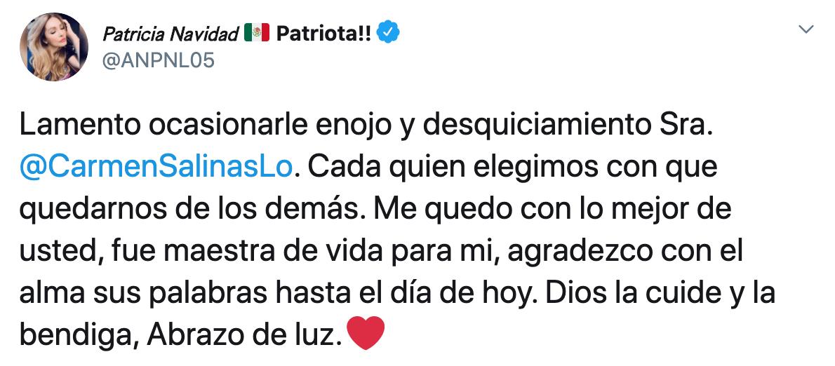 """Paty Navidad responde a Carmen Salinas por llamarla """"loquita"""""""