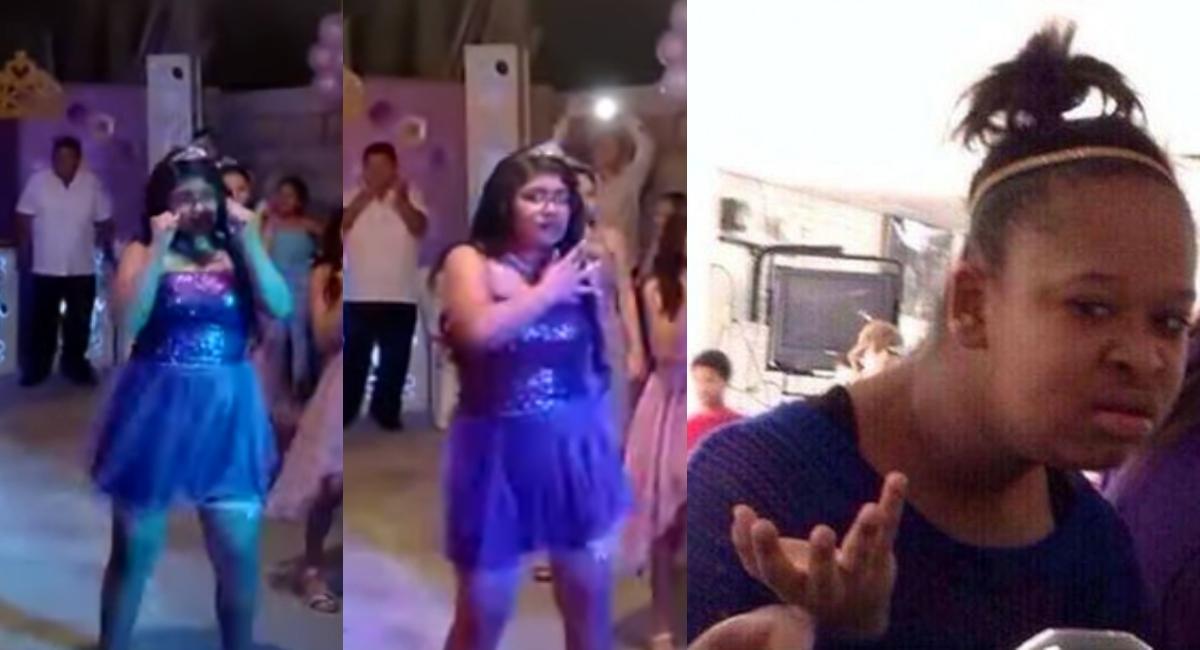 Quinceañera hace baile con canciones de Tik Tok en su fiesta