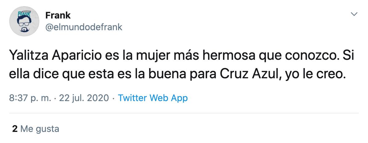Yalitza Aparicio muestra su apoyo al Cruz Azul