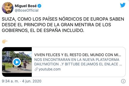 Miguel Bosé asegura que vacunas contra Covid nos matarán