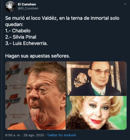 """Se pasan: tras muerte de """"El Loco"""" Valdés, Internet revive memes de Chabelo el inmortal"""
