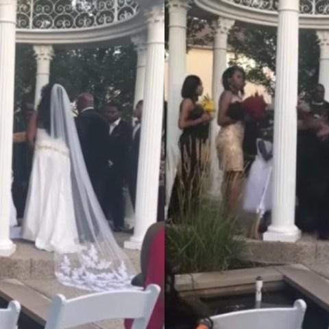 Amante interrumpe boda para decir está embarazada del novio