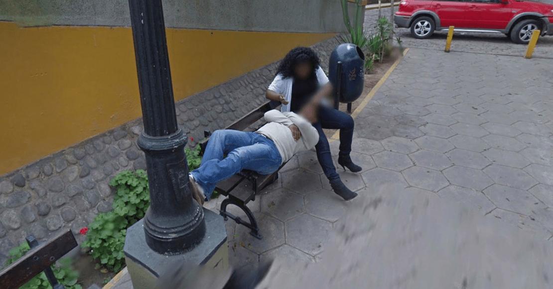 Hombre descubre infidelidad de esposa foto Google Maps