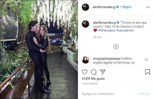 Alex Fernández presume el amor a su novia en redes sociales