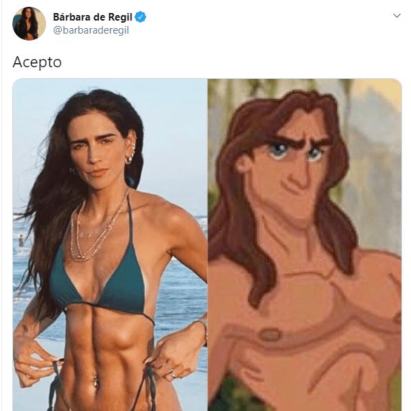 Bárbara de Regil se ríe de sí misma