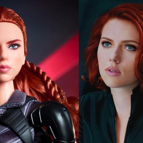 Black Widow versiones Barbie