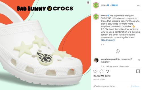 Crocs bad bunny agotados