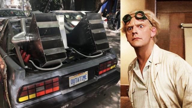 """DeLorean de """"Volver al Futuro"""" aparece en la Condesa"""