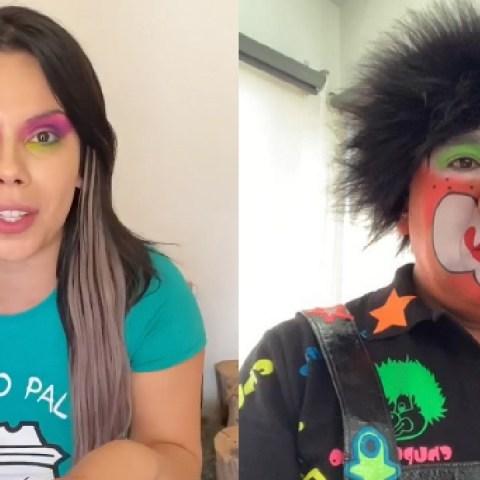 Lizbeth Rodríguez como payaso criticada por exceso de maquillaje