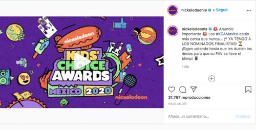 Nickelodeon presenta a los nominados para los KCA México 2020