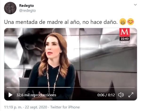Azucena Uresti mienta la madre con groserías durante su noticiero en vivo