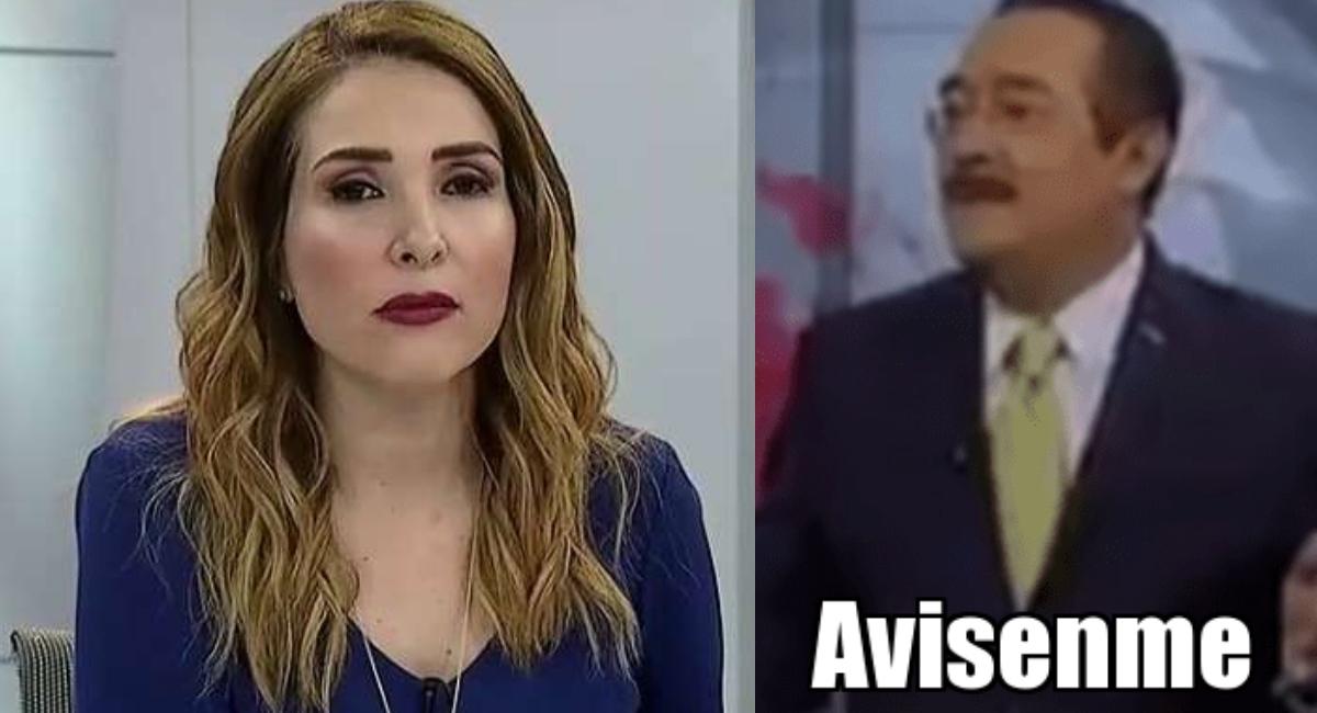 Azucena Uresti se enojó y lanzó insulto durante noticiero