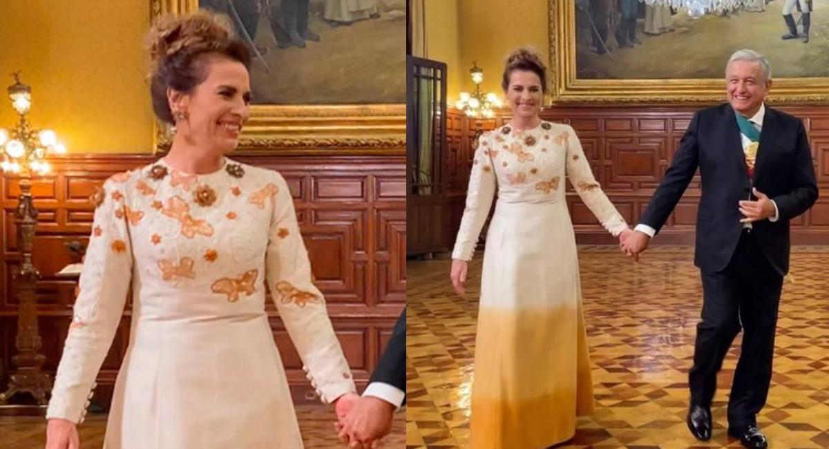 Así es el vestido que Beatriz Gutiérrez lució el 15 de septiembre