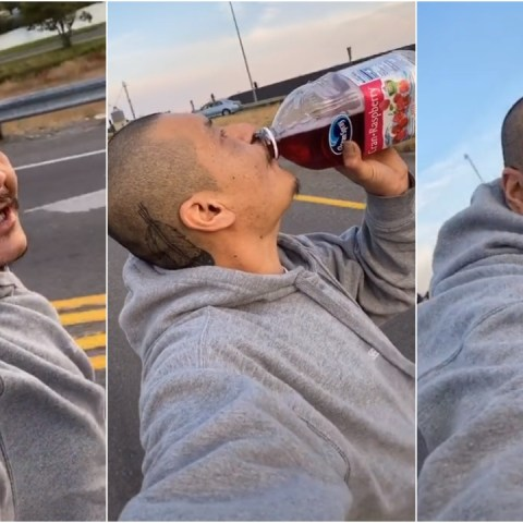 """Cholo en patineta canta """"Dreams"""" mientras toma jugo y contagia pura buena vibra"""