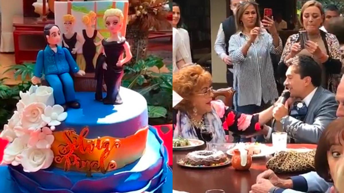 Celebran a lo grande el cumpleaños de Silvia Pinal en su casa del Pedregal