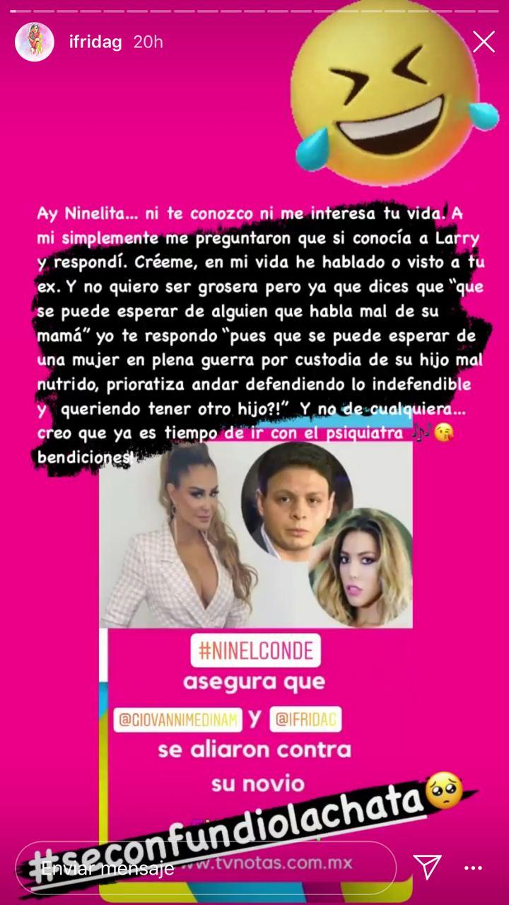 Frida Sofía arremete contra Ninel Conde y le advierte que no se meta con ella
