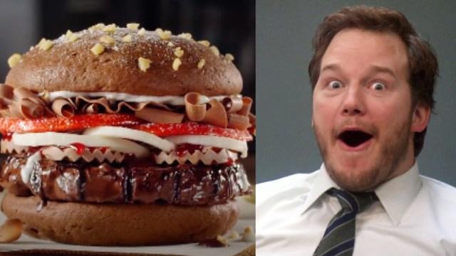 Lanzan la nueva hamburguesa de chocolate para amantes de este dulce