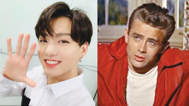 Jungkook de BTS y James Dean