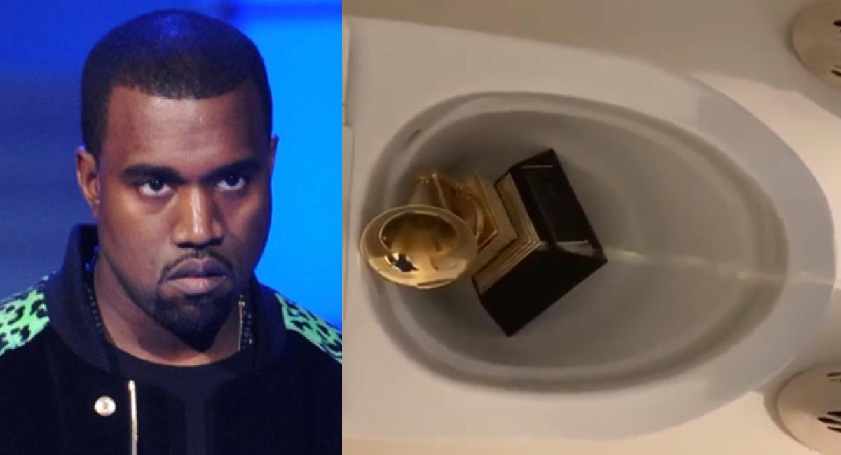 Kanye West orina sobre su Grammy luego de jurar que no hará música nueva