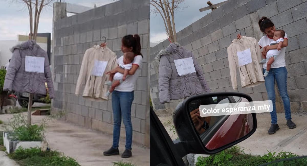 Mujer cambia ropa por pañales y comida para sus hijos y su esposo enfermo