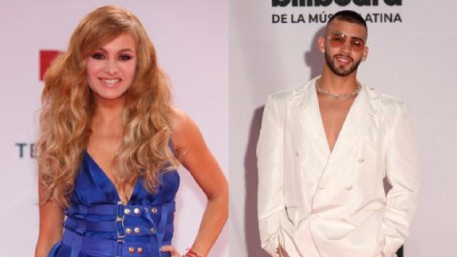 Paulina Rubio y Manuel Turizo en los premios latin billboard